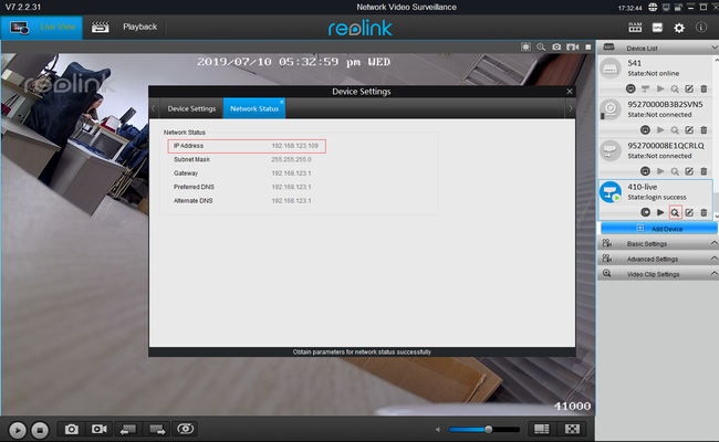 View Security Cameras via Reolink App & Client